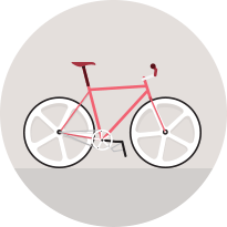 Animated image of red bicycle